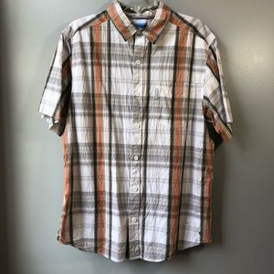 Columbia Men's textured Short Sleeved Shirt Sz L